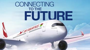 Avion Air Mauritius dans le ciel