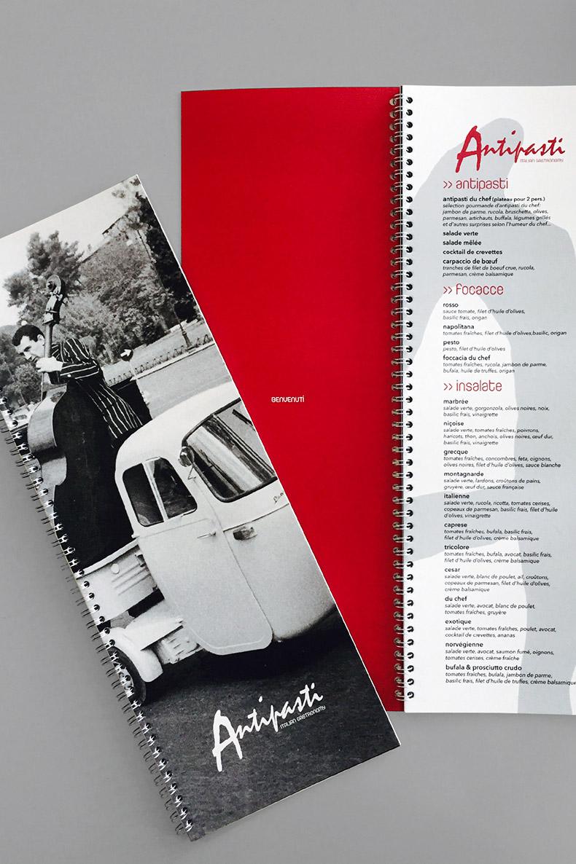 Carte du restaurant Antipasti