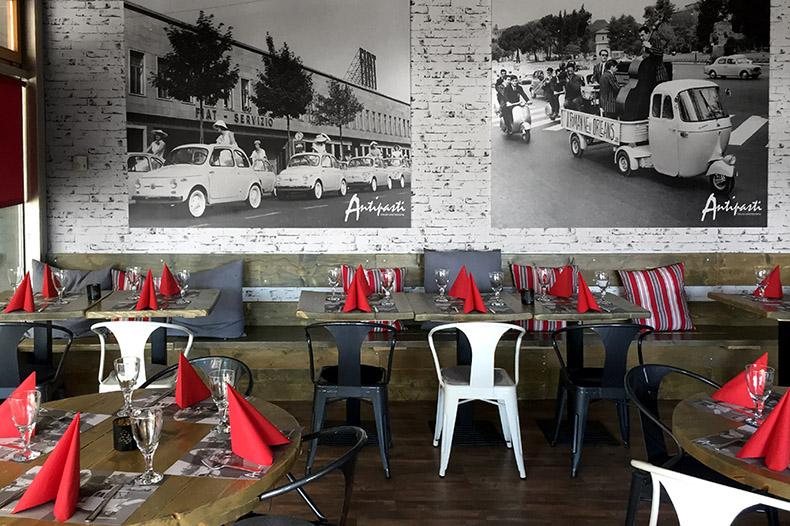 Vue intérieur du restaurant Antipasti