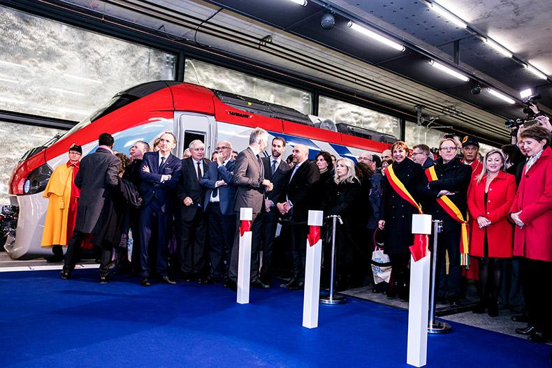 VIP lors de la cérémonie d'inauguration du Léman Express