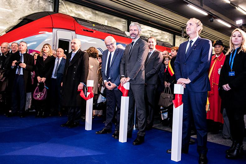 VIP français lors de la cérémonie d'inauguration du Léman Express