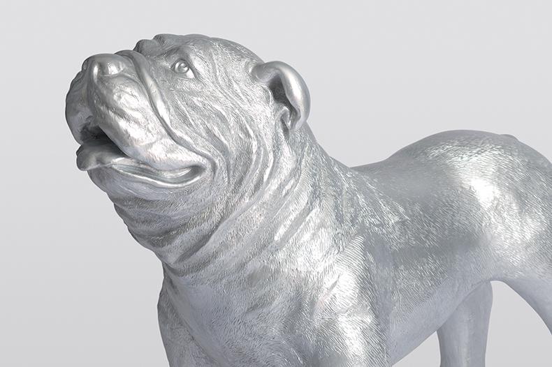 Détail de chien Fabbrik argenté