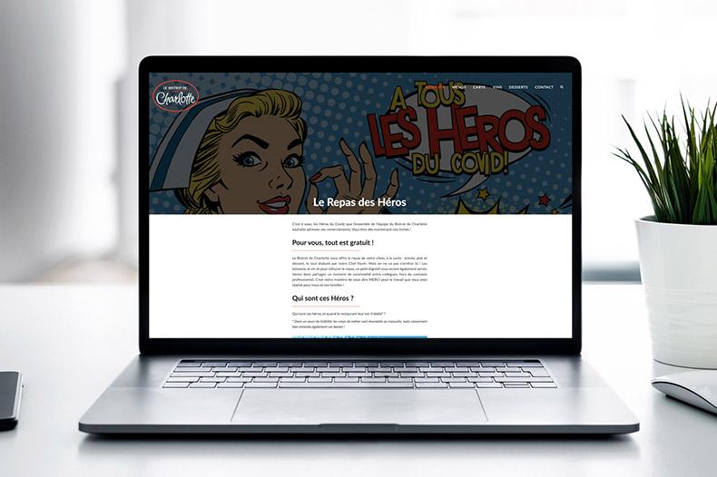 site internet du bistrot de charlotte